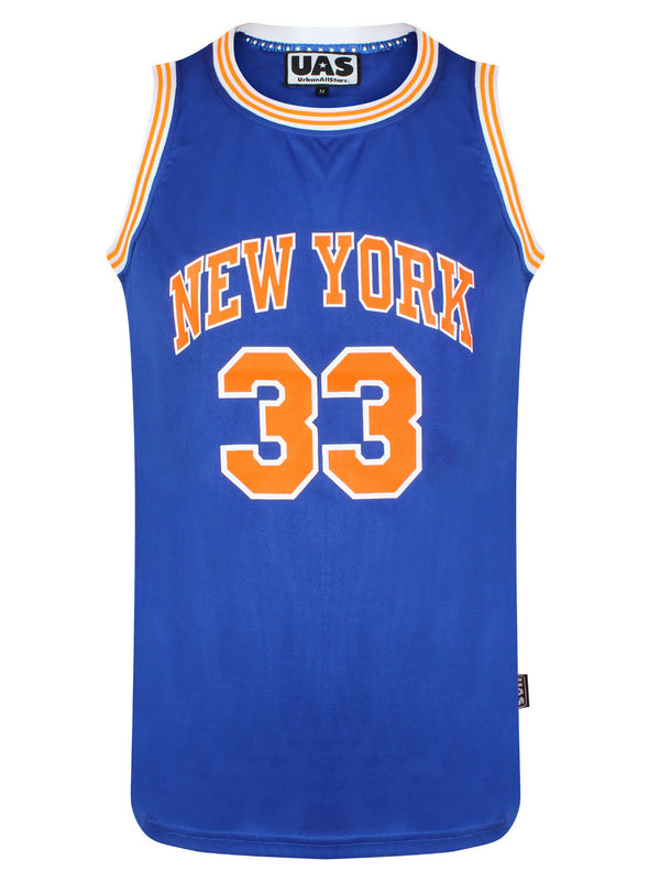 Mens UrbanAllStars New York 33 Basketball Jersey
