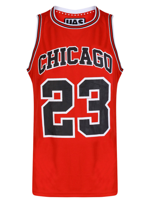 Mens UrbanAllStars Chicago Basketball Jersey Red