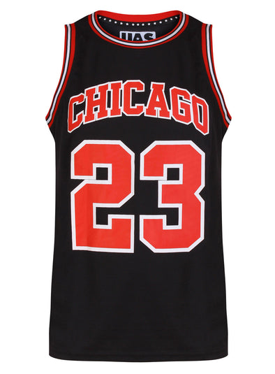 Mens UrbanAllStars Chicago Basketball Jersey Gym Black