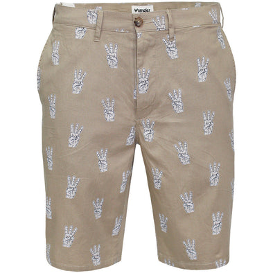 Mens Wrangler Chino Shorts Beige