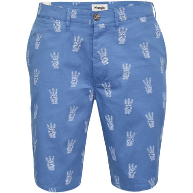 Mens Wrangler Chino Shorts Blue