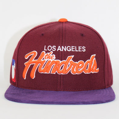 The Hundreds Team 2 Strapback Hats Los Angeles Script Flat Caps