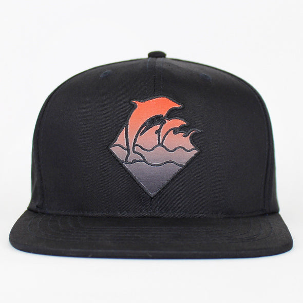 Pink Dolphin Snapback Gradient Waves Flat Cap