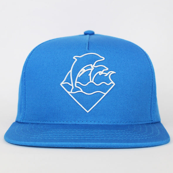 Pink Dolphin Snapback Waves Flat Cap