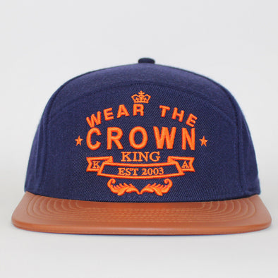 King Apparel Snapback Wear The Crown Flat Cap