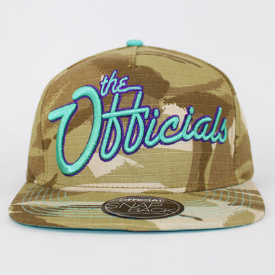 Official Snapback Camo the Officials Design Flat Baseball Cap