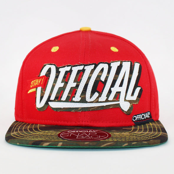 Official Snapbacks Stay Official Patch Logo 2 Tone Flat Baseball Caps