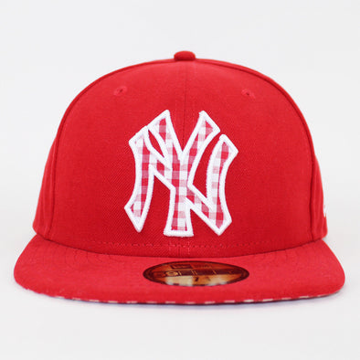 New Era 59FIFTY New York Yankees Red Ging Shy Fitted Baseball Cap c8f711f29943