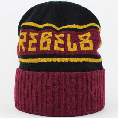 Mens Rebel 8 Alpine Cuffed Beanie Burgundy