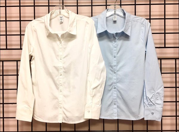 Girls Button Down Uniform Shirt