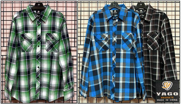 Wholesale Mens Woven Plaid Button Downs