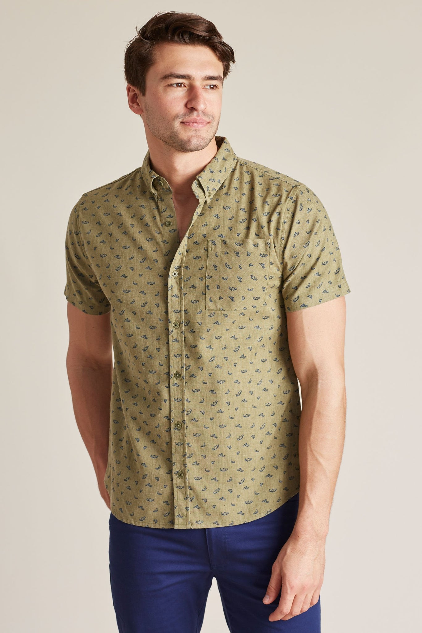 Upstream Print Button Down