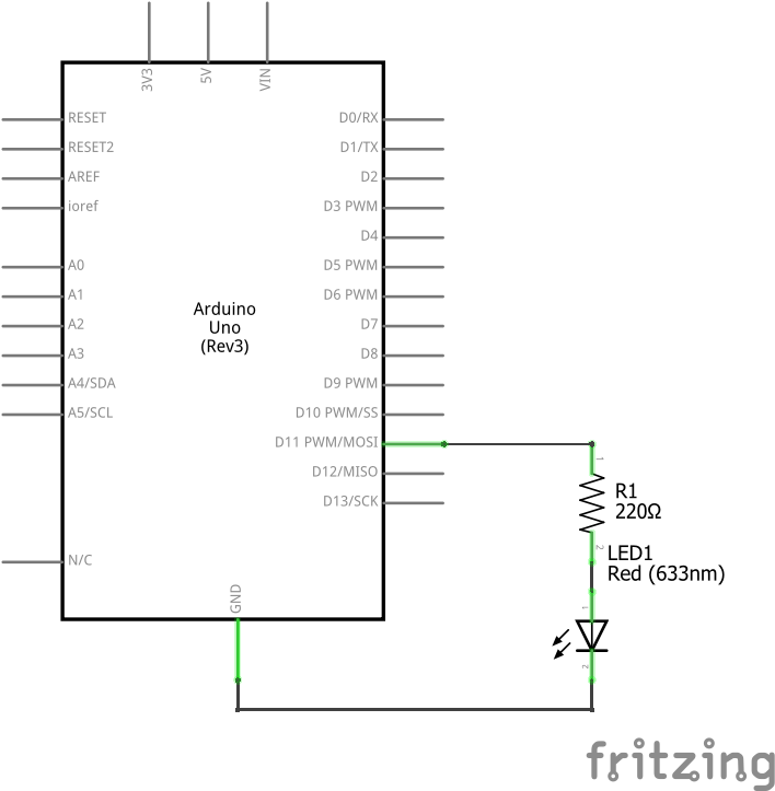 Fade LED Schematic View
