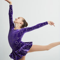 Mondor Purple Ribbons Skate dress
