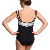 Ainsliewear Square Neck Leotard With Versailles Print