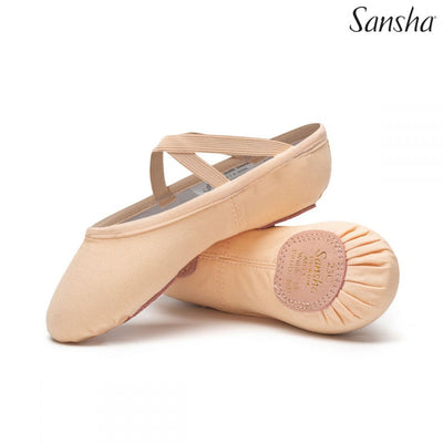 Sansha Children's Canvas Ballet Slipper