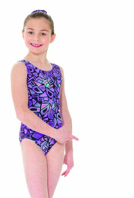 Mondor Metallic Print Gymnastic Leotard