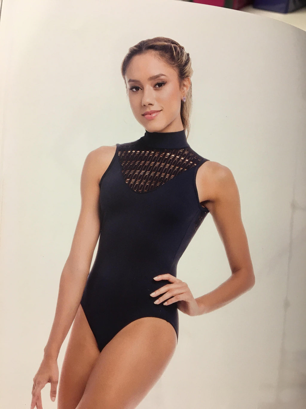 So Danca Crochet High Neck Leotard
