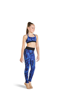 Bloch Kaia X-Back Printed Crop Top