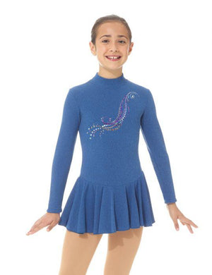 Mondor - Mondor Long Sleeve Sparkle Pattern Skate Dress