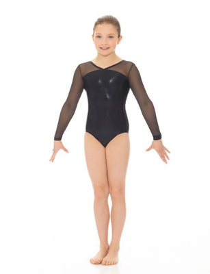 Mondor Mesh/Metallic Long Sleeve Leotard