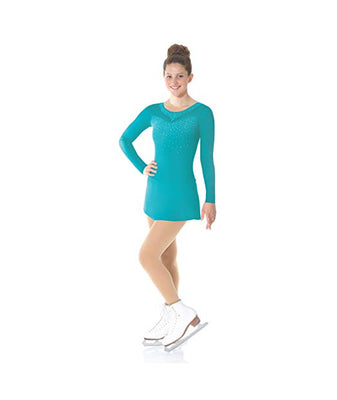 Mondor Mesh Long Sleeve Skate Dress
