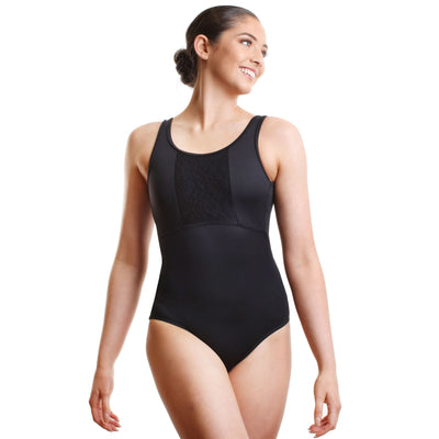 So Danca Low Back Leotard With Lace Insert