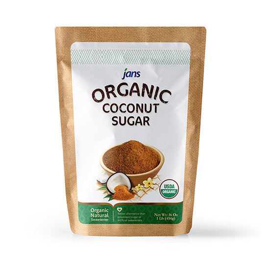 Jans Organic Coconut Sugar, 16 oz, Pack of 3