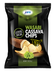 Jans Wasabi Cassava Chips, 3 oz, Pack of 2