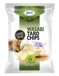 Jans Wasabi Taro Chips, 3 oz, Pack of 2