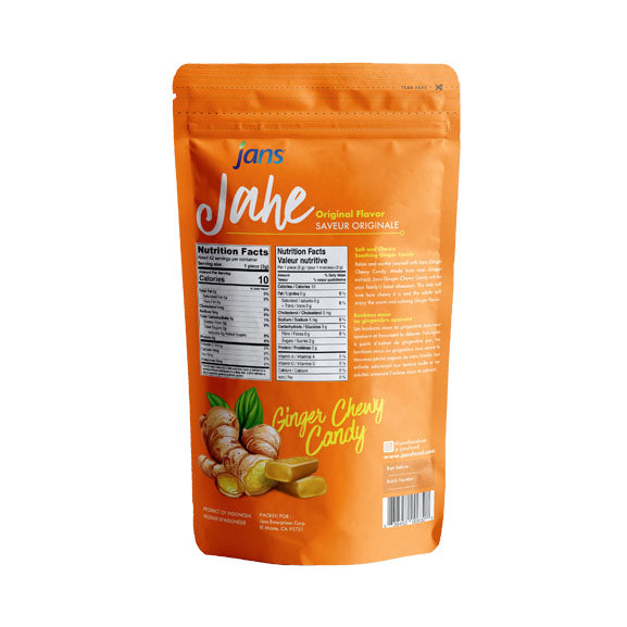 Jans Jahe Ginger Chewy Candy, 3 oz, Pack of 4