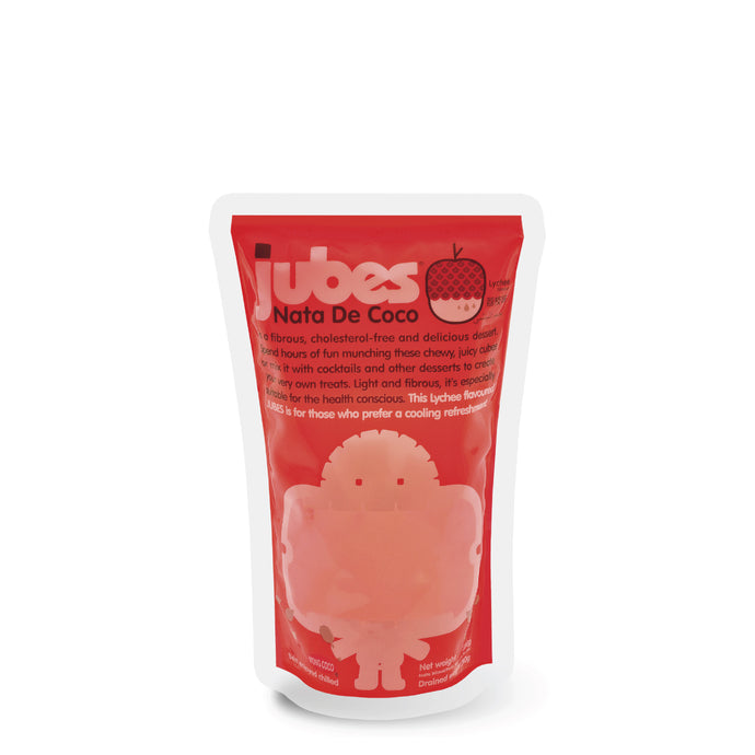 Jubes Nata De Coco, Lychee, 12.7 oz, Pack of 8