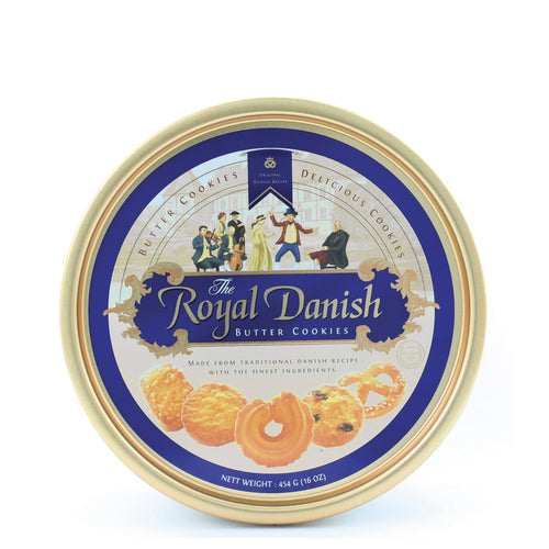 Royal Danish Butter Cookie Tin Container