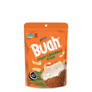 Jans Buah Dried Coconut Chips, 3 oz, Pack of 5