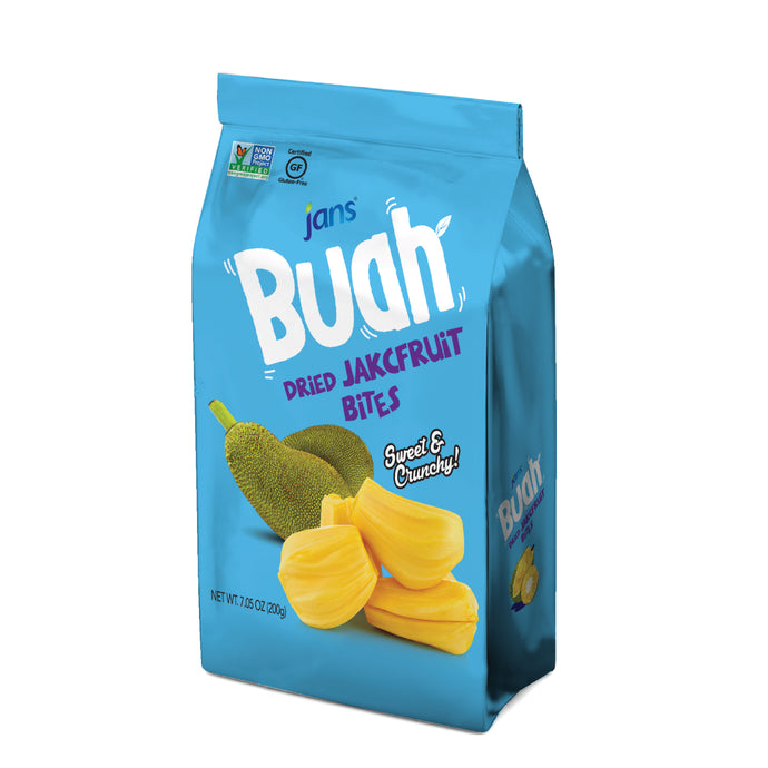 Jans Buah Dried Jackfruit Bites, 5.3 oz, Pack of 2