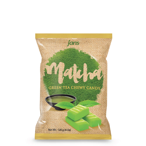 Jans Matcha Chewy Candy, 4.2 oz , Pack of 6