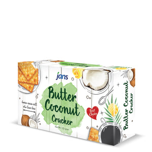 Jans Butter Coconut Crackers, 4.3 oz, Pack of 8