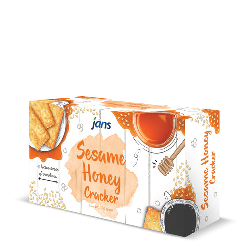 Jans Sesame Crackers with Honey, 4.58 oz, Pack of 8
