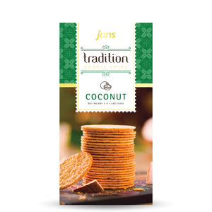 Jans Tradition Cookie Thins, Coconut, 4.2 oz, Pack of 6