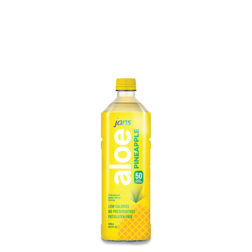Jans Aloe Drink, Pineapple, 500ml, Pack of 5