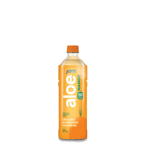 Jans Aloe Drink, Mango, 500ml, Pack of 5