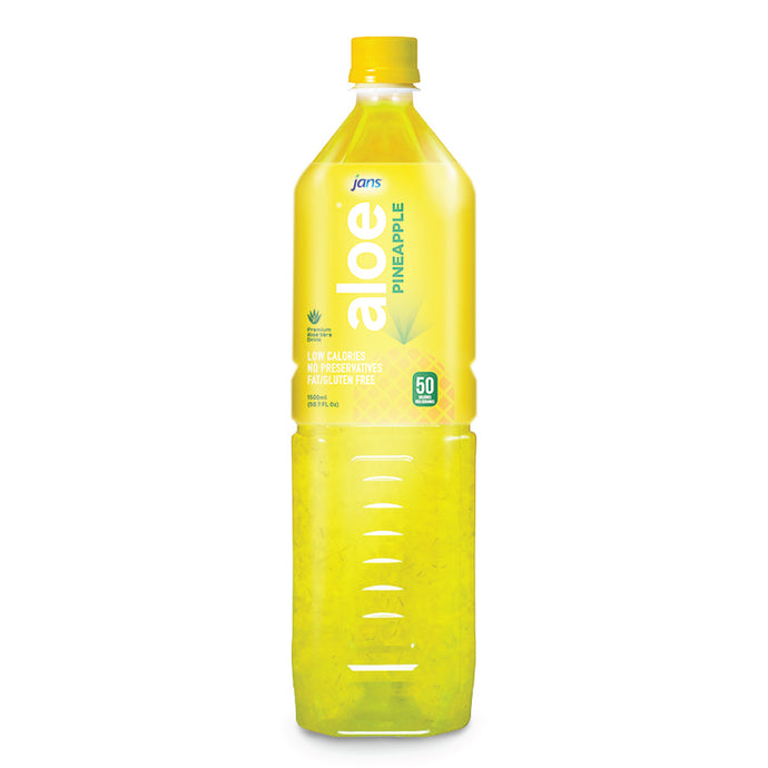 Jans Aloe Drink, Pineapple, 1.5L, Pack of 3