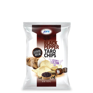 Jans Black Pepper Taro Chips, 3 oz