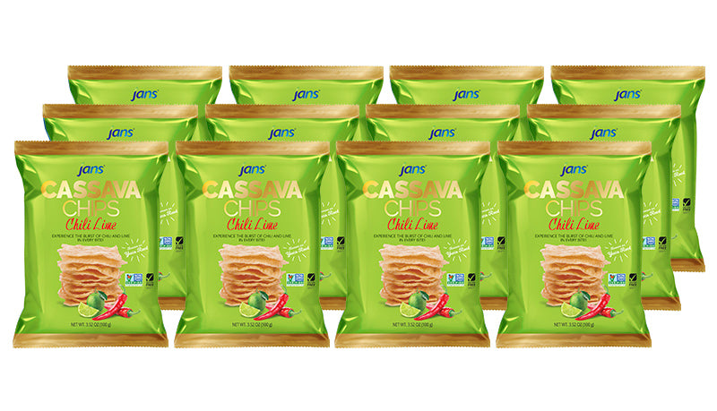 Jans Cassava Chips, Chili Lime, 3.52 oz