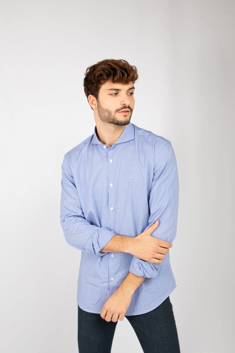 CAMISA PATA DE GALLO MINI MARINA