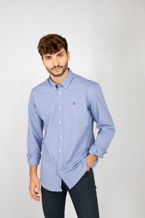 CAMISA FRENCH DOTS MARINO
