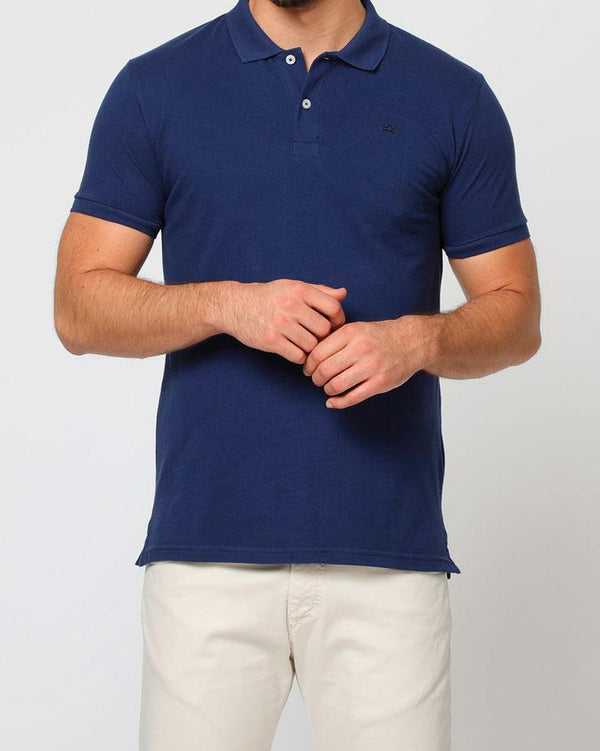 BASIC POLO PIQUET MARINO NEGRO