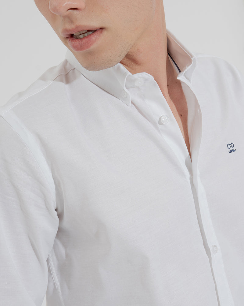 CAMISA PIN POINT BLANCO