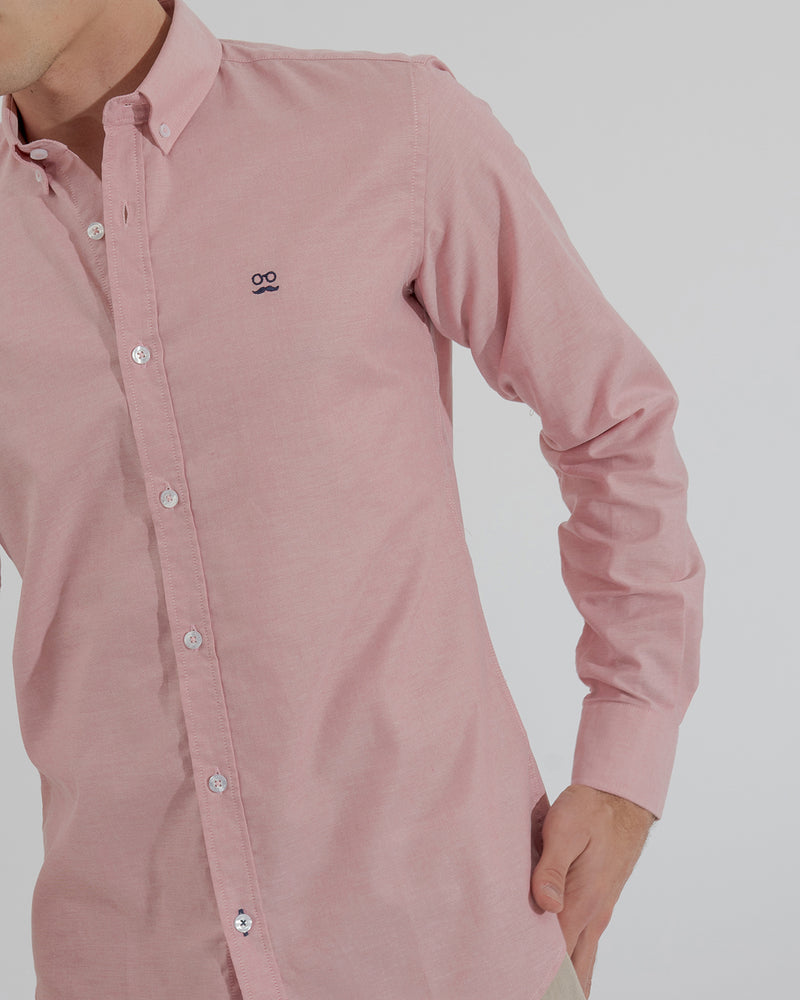 CAMISA PIN POINT ROJO