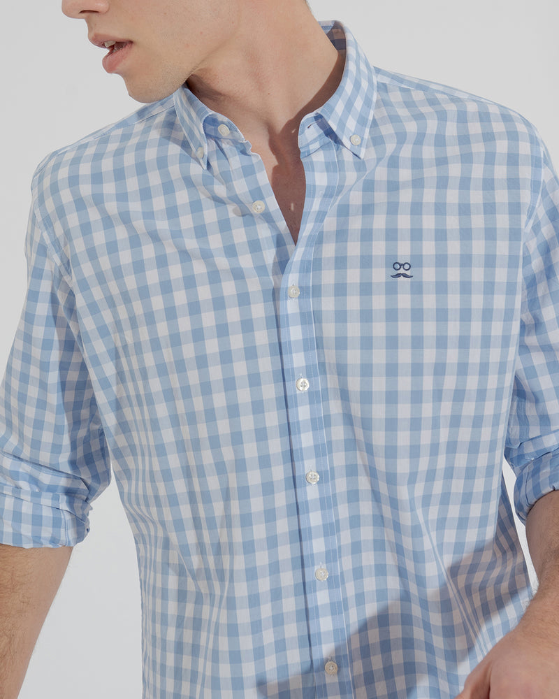 CAMISA WAVE AZUL MEDIO